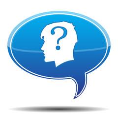 QUESTION HEAD BUBBLE SPEECH