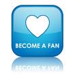 BECOME A FAN Web Button (social networking follow us community)