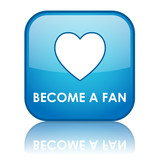 BECOME A FAN Web Button (social networking follow us community)