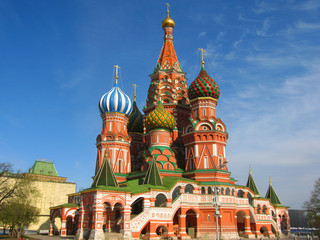 St. Basil's (Pokrovskiy) cathedral in Moscow.