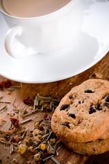 herbal tea and some fresh cookies