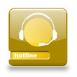 Button spare Hotline gold gelb