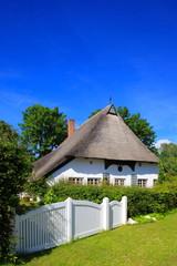Reetdachhaus Haus im grünen, Gartenzaun