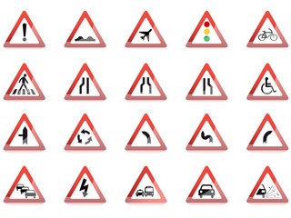Verkehrszeichen Icon Set