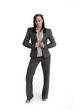 Smart business type woman isolated
