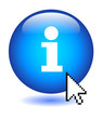 INFO Button (information sign about us find out more learn web)