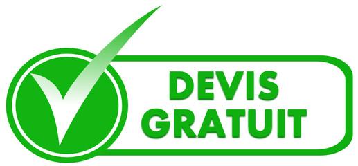 devis gratuit sur symbole validé vert