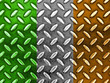 Irish Flag On a Diamond Metal Texture