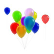 bunch of colorful balloons - isolated background