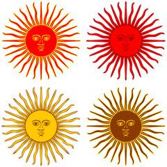 sun of Argentina flag