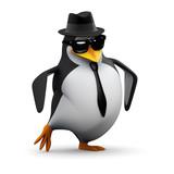 3d Penguin does his dance