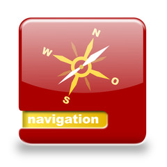 Button spare Navigation rot orange