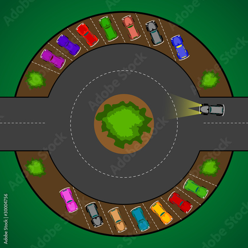 round parking for cars