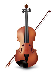 Violin isolated on white Vector