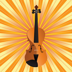 Vector Art Violin On Background