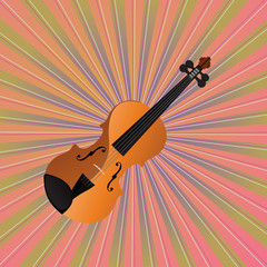 Vector Violin On Background
