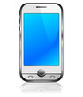 Cell Smart Phone Silver and White