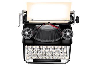 macchina da scrivere con foglio