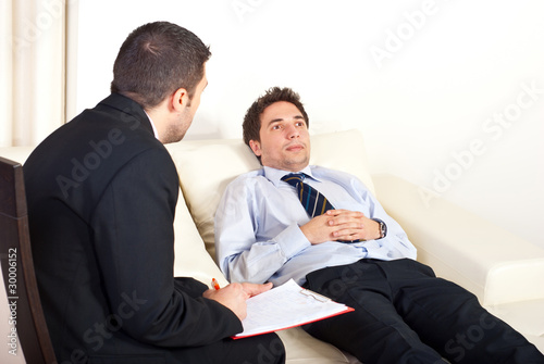 Psychiatrist with male patient