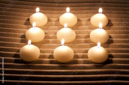 D coration bougies d 39 ambiance zen photo libre de droits - Ambiance zen lexemple de la maisonmrn ...