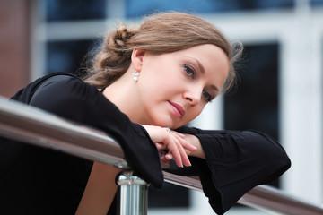 Thoughtful woman looking away