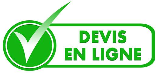 devis en ligne sur symbole validé vert