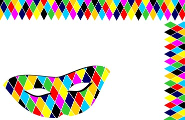 Sfondo maschera Arlecchino