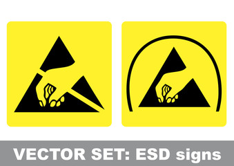 VECTOR SET: ESD signs