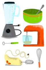 electrodomésticos de mezclar, de la cocina