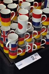 Cups printed with national flags