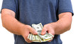 Man showing money in his hands
