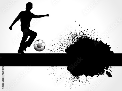 abstract football boy with grunge
