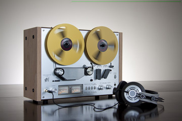 Vintage Reel-to-Reel stereo tape deck recorder