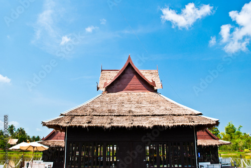 wood Thai house.