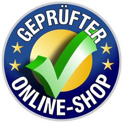Geprüfter Online Shop Button/Plakette