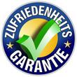 Zufriedenheits Garantie Button/Plakette