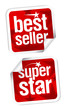 Bestseller and superstar stickers.