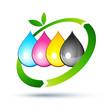 recyclage encre imprimante - 30014116