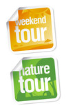 Weekend tours stickers poster