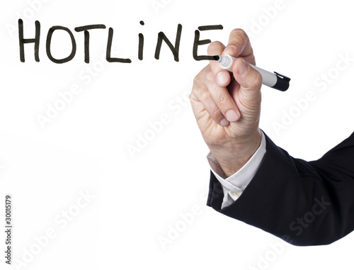 emphase business sur le concept de hotline