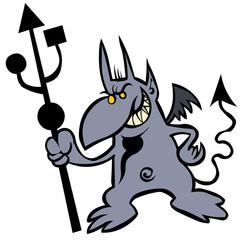 Funny Devil with USB trident.
