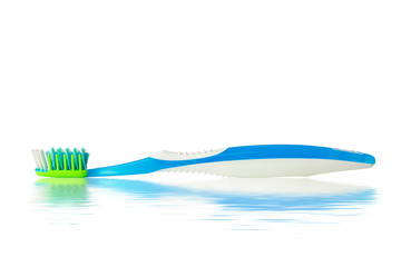 toothbrush with water reflection