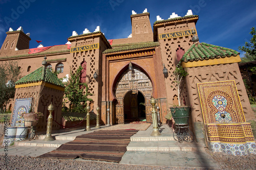 Entrance of a Riad iin Morocco