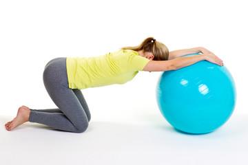 entspannen mit dem gymnastikball