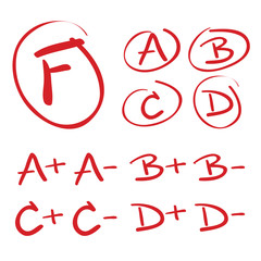 Vector Hand Drawn Grades