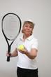 Frau beim Tennis 16