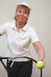 Frau beim Tennis 15
