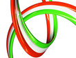 Italia drappo 3d - bandiera isolato