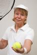 Frau beim Tennis 10