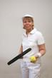 Frau beim Tennis 7